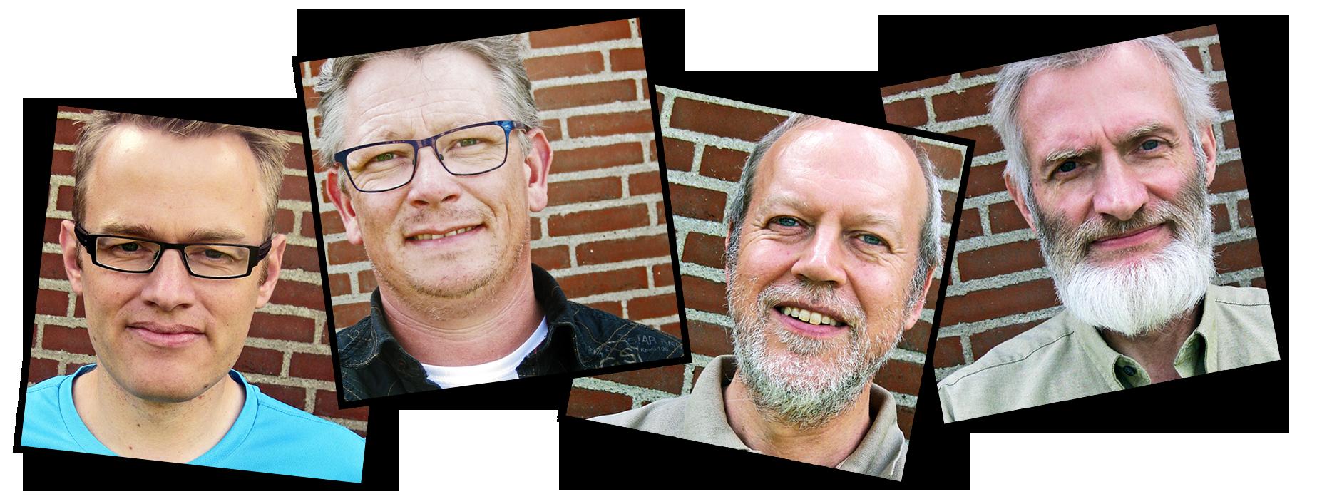 Stefan Vase, Jens Lomborg, Ove Klausen og Niels Jørgen Vase